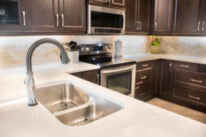 dark brown kitchen cabinetry