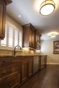 Hardwood kitchen cabinetry